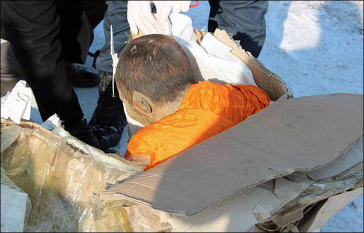 200-year old monk found from Mongolia