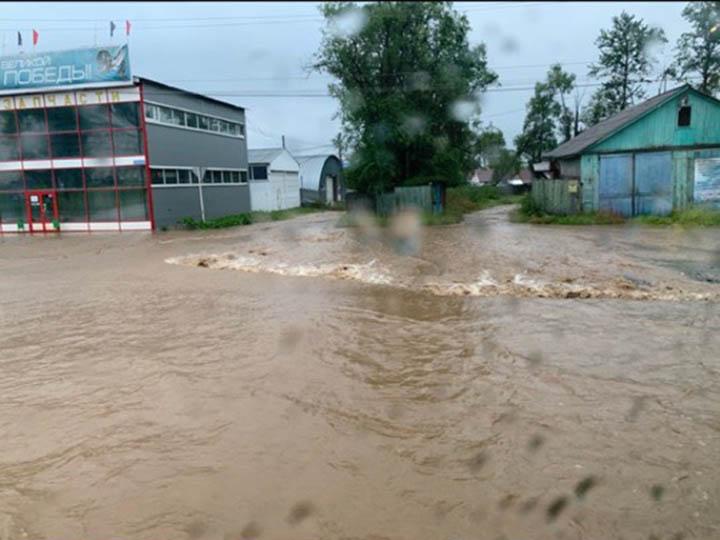 Baikalsk flooded