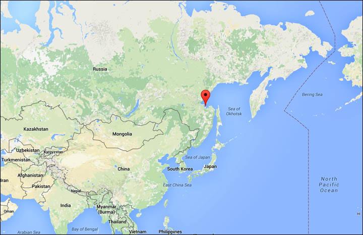 Sea Of Okhotsk Map Five killed, 11 survive helicopter crash in Sea of Okhotsk Sea Of Okhotsk Map