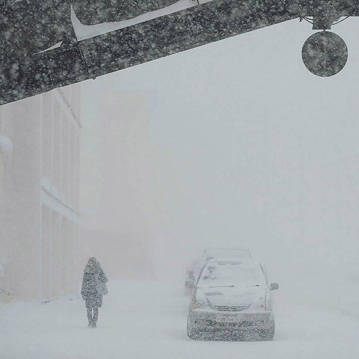 Snow in Norilsk