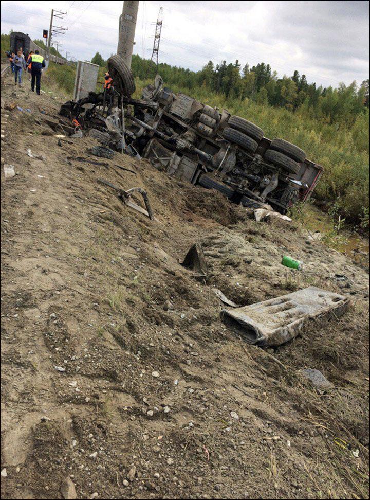 Train crash in Siberia leaves at least 17 injured including 3 children