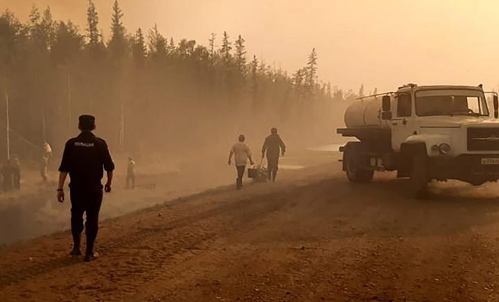 В началото на лятото на 2021 г. горски пожари ад в Якутия, най-студеният регион на Русия