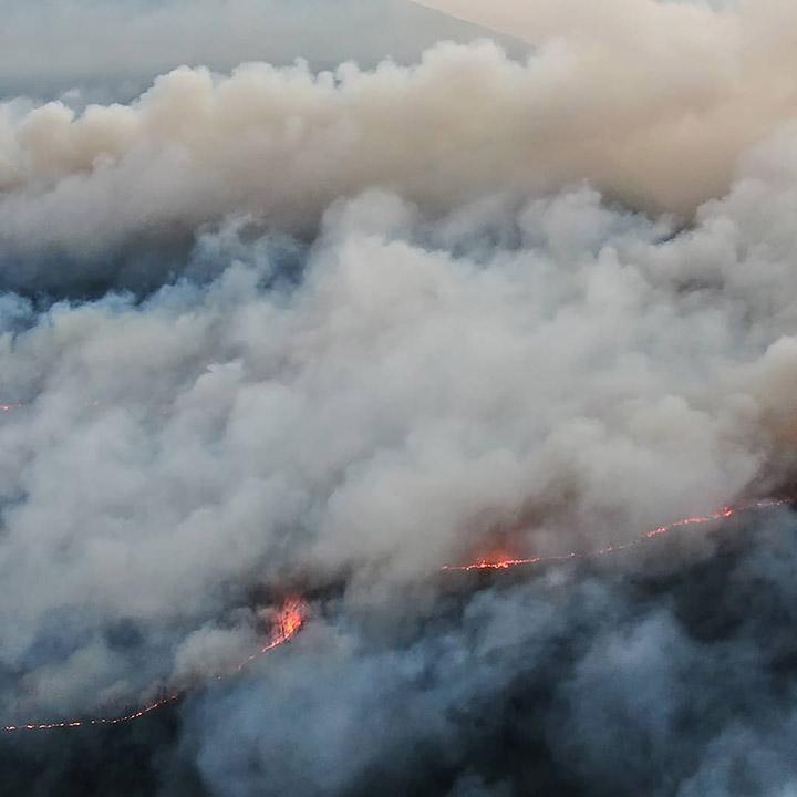 Lena Pillars wildfire