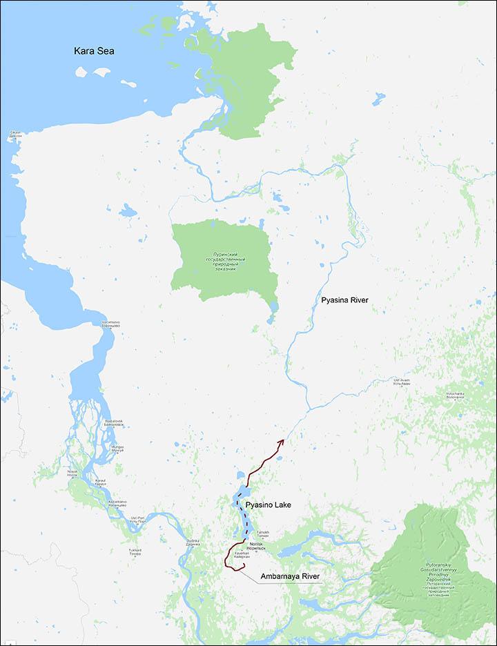 Stato di emergenza a Norilsk dopo 20.000 tonnellate di perdite di gasolio nel sistema fluviale dell'Artico