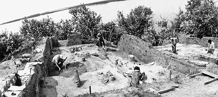Excavaciones del asentamiento de Gasya en 1980. Foto: Vitaly Medvedev