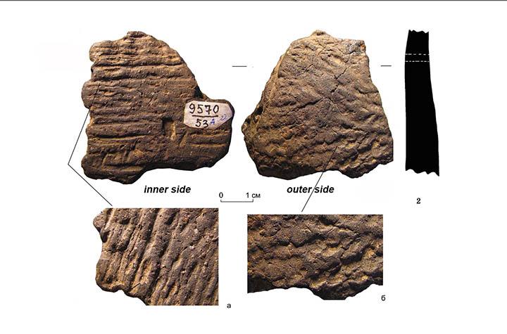 Fragmentos de cerámica encontrados en el yacimiento de Khummi. Foto: Oksana Yanshina