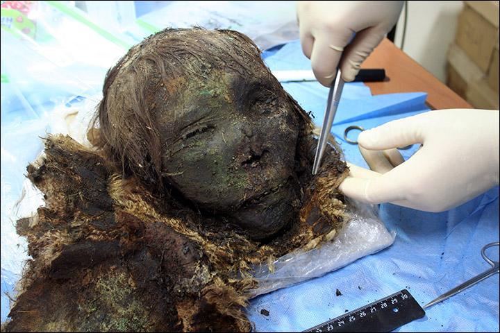 Meet the mummified Polar Princess, her long eyelashes and hair still intact after 900 years